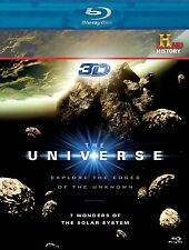 THE UNIVERSE 7 WONDERS OF SOLAR SYSTEM BLU RAY 3D + BLU RAY NEW! HISTORY CHANNEL