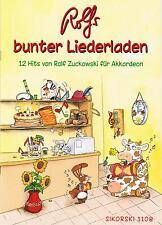 Akkordeon Noten : Rolf ZUCKOWSKI Rolfs bunter Liederladen leicht m. 2. St ad lib