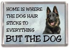 "German Shepherd Dog Fridge Magnet ""Home is Where"" Design No 1 by Starprint"
