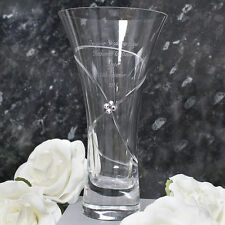 Personalised Engraved Infinity Vase with Swarovski Elements - Stunning Gift