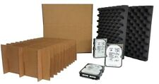 Hard Disk Drive Shipping Box - Slotted Storage Container Package (PACK OF 14)