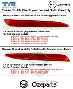 Rear Bumper Bar Reflector (Side B) For Mazda 3 BL 2009~2013 (Check Pictures)