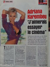 ADRIANA KAREMBEU Coupure de presse 1 page 1999 – French Clippings