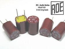 100uF - 16V  ROE EK Series Hi-End Audio Grade Capacitors  x 100 Pieces