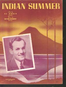 Indian Summer 1939 Glenn Miller Sheet Music