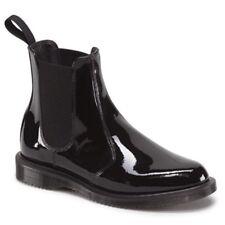 Dr Doc Martens Faun  Kensington Chelsea Boots Patent Leather Black UK 5 38 7