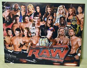 WWE Wrestling RAW Superstars 16X20 Triple H John Cena Trish Stratus + Poster