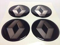 Stickers silicone centre jante moyeu de roue pour RENAULT 4 x 50mm