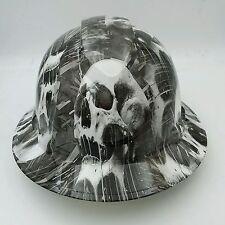 Pyramex Ridgeline Wide Brim Hard Hat Hydro Dipped in WHITE DRIPPING SKULL
