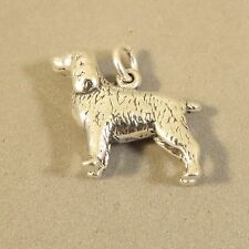.925 Sterling Silver 3-D SPANIEL CHARM NEW Dog Springer Cocker Pendant 925 DG44