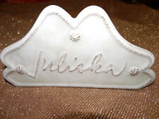 New, Rare, Juliska Berry & Thread Whitewash Collection Brand Display Marker