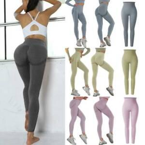 Women Push Up High Waist Gym Leggings Seamless Fitness Sport Running Yoga Pants
