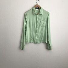 Equipment Womens Green Silk Blen Button Up Top Size Large