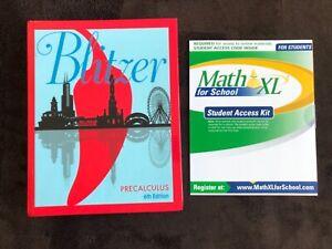 Precalculus by Robert Blitzer 2017, Hardcover + Math XL Student Access Kit