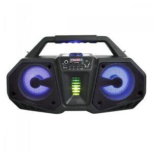 "Axess 6506 Portable Boombox Speaker, 100W PMPO, Double 4""Speakers,TWS,Bluethooth"