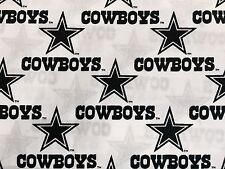 """DALLAS COWBOYS NFL 60"""" WIDE COTTON FABRIC BY THE 1/2 YARD Fabric Traditions W"""