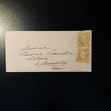 "FRANCE NAPOLÉON No.21 x2 FROM LETTER COVER STAMP ORIGIN RURAL ""GOLD"" from stamp"