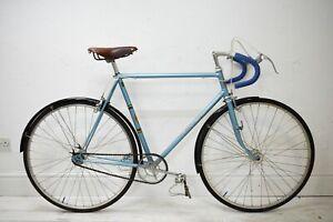 C.1950 HOBBS OF BARBICAN 58CM REYNOLDS 531 VINTAGE STEEL ROAD BICYCLE, FIXED