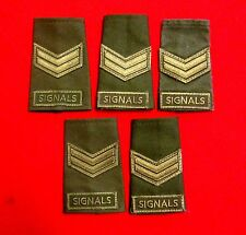Vintage Canadian Corps of Signals Corporal Epaulettes Lot of 5 knu1