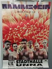 RAMMSTEIN - ORIGINAL HERZELEID TOUR POSTER / 1996 - STADTHALLE UNNA *84x60*