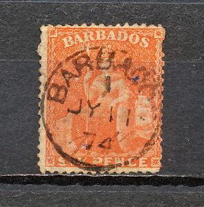 (NNAW 015) BARBADOS 1870 USED