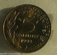 5 centimes marianne 1998 : SPL : pièce de monnaie française
