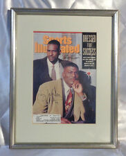 UNLV's Larry Johnson/Stacey Augmon autographed cover of 11/90 Sports Illustrated