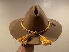 Original Us M1889 Campaign Hat /w/ Civil War era Us Cavalry hat cord