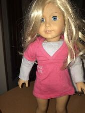 "American Girl Pleasant Company doll 18"" blond hair blue eyes excellent condition"