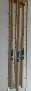 *3 Eagle Claw Catclaw Casting surf Rod, 8' foot 2-Piece Rod Medium/Heavy catfish