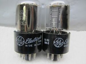 GE 6SN7 GTB  PLATINUM MATCHED PAIR,NOS,  Well-Balanced Triodes in Gm & Ip,IN BOX