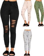 Pantaloni da donna multicolore in cotone
