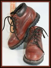 Eddie Bauer Brown Leather Lace Up Ankle Work Boots US Size 7.5 Gore Tex 5 eyelet