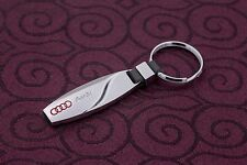 Audi Logo Keyring Key Chain, for for A3 S3 A4 S4 RS4 S5 RS5 S6 RS6 A7 S7 R8 S8