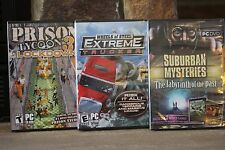 WHEELS OF STEEL EXTREME TRUCKERS, PRISON TYCOON 3 , SUBURBAN  MYSTERIES  CD ROM