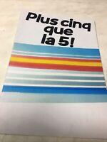 Renault 5 R5 1985 Supercinq L TL GTL TSE catalogue prospectus brochure dépliant