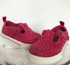 Cute Garanimals Pink Hearts Baby Girl Canvas Shoes Velcro Closures Size 3.