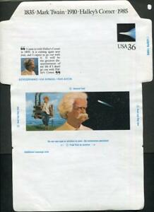 118. US Sc. #UC60 Mark Twain air mail letter sheet, not folded, mint, very fine