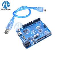 UNO R3 ATmega328P CH340 Mini USB Board Microcontroller With Cable for Arduino