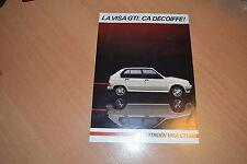 DEPLIANT Citroën Visa GTi de 1985