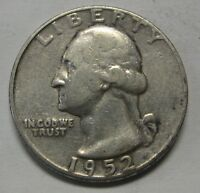 1952 Washington Silver Quarter in Average Circulated Condition Priced Right