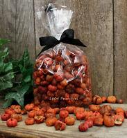 2 Cups ORANGE Pumpkin / Putka Pods ~ Fall Bowl Fillers