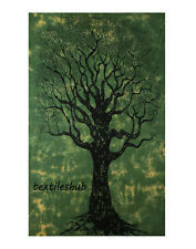 Indian Dry Tree Hanging Cotton Wall Tapestry Poster Green Decor Throw