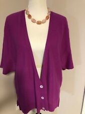 Nordstrom Collection Womens Magenta Cashmere Poncho Cardigan Sweater  sz L