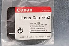 GENUINE CANON E-52 LENS CAP 52MM MADE IN JAPAN - FREE USA SHIPPING