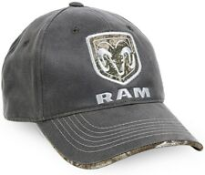 Dodge RAM Logo Charcoal Weathered Cotton Low Crown Cap with Realtree Edge™