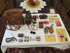 Vintage Riken Ricohflex Model Vi and Minolta1000 Cameras, Bag and Accessories