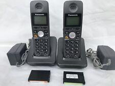 LOT OF 2 PANASONIC KX-TGA600B KX-TGA600 KX-TG60XX SETS NEW BATTERY