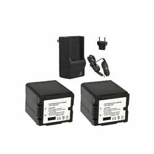 Camcorder Batteries with Charger for Panasonic