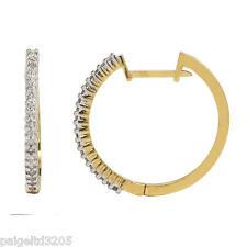 Gold Over Silver 1/4 CTTW Diamond Hoop Earrings